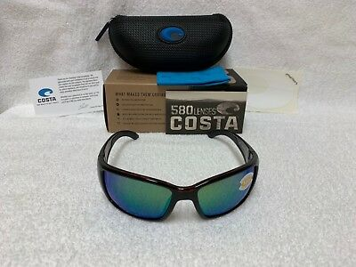 c7a5a37752 NEW Costa Del Mar Blackfin Polarized Sunglasses Tortoise Green BL 10 OGMP  580P