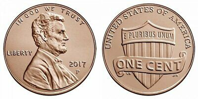 2017 P D  - Lincoln Shield Cent - GEM BU  from Bank Rolls