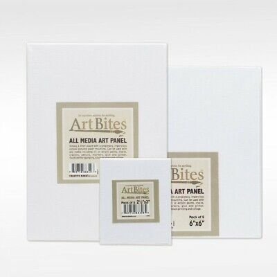 ArtBites Canvas Textured Boards 5-Pack Assorted Sizes