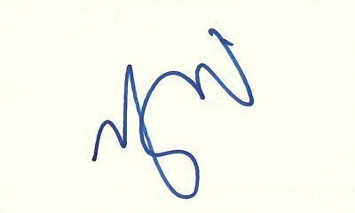 Matthew Good Singer Musician Rock Music Autographed Signed Index Card