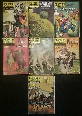 Classics Illustrated 7 Issues 50, 52, 53, 54, 56, 58, 59 Worlds Greatest Authors