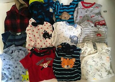 Baby Boy Clothes 3- 12 months Bundle Lot Of 12 Sleeper Various Brands