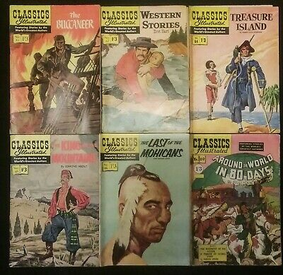 Classics Illustrated by World's Greatest Authors issues 61, 62, 64 , 65 , 66, 69