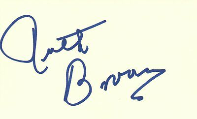 Ruth Brown Legendary Rhythm & Blues Singer Music Autographed Signed Index Card