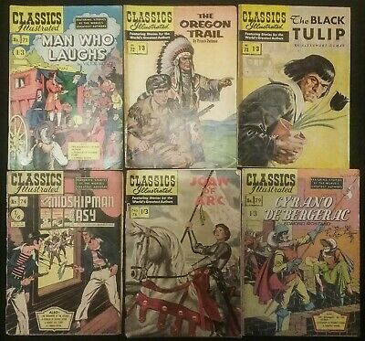 Classics Illustrated by World's Greatest Authors issues 71,72,73,74,78,79 Used