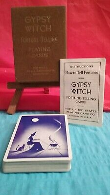 VINTAGE GYPSY WITCH Fortune Telling Cards-Complete-EX/Condition-FREE SHIPPING!!!