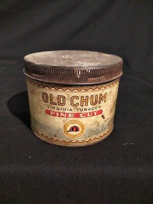 Vintage Old Chum Tobacco Tin  Manufactured By Imperial Tobacco Company