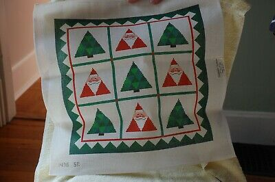 Needlepoint Canvas Large Christmas pillow