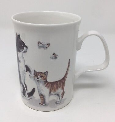 Roy Kirkham Vintage Cat Lovers Fine Bone China Cup Mug 1989 Tea Coffee H-4inches