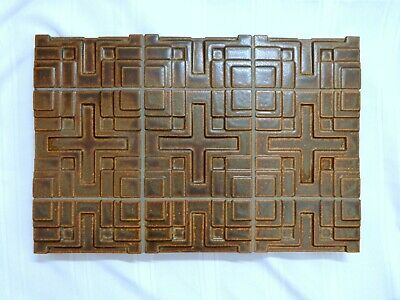"Frank Lloyd Wright Millard House Art Tile  12"" x 18"" Motawi"