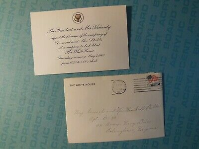 John F. Kennedy White House invitation, for May 2, 1963 reception