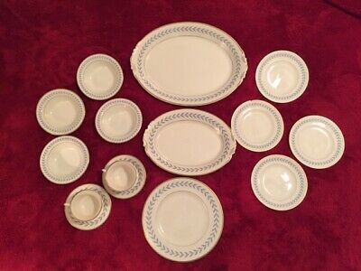 Syracuse China Sherwood Pattern Dinnerware 16 Pieces Old Ivory USA Made