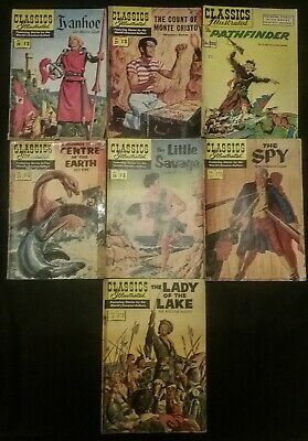 Classics Illustrated by the world's greatest authors Issues 20 to 28 ( 7Issues )
