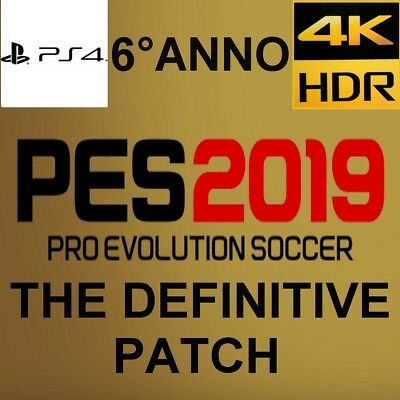 Patch Pes 2019 Ps4 100% La Piu' Completa In Europa Option File