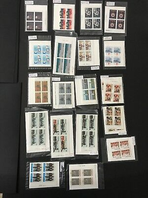 Canada Stamps MNH Commemorative Plate Block Sets From 1984 FV$114+ CV$315+