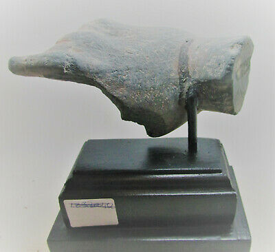 Circa 200Bc-200Ad Ancient Gandharan Stone Schist Statue Fragment Mounted Hand