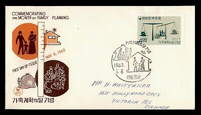 Dr Who 1965 Korea Family Planning Fdc Pictorial Cancel C82077