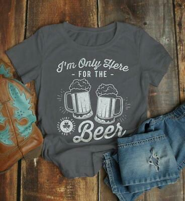 b6474684ce3204 Women s Funny St. Patrick s Day T Shirt Here For Beer Shirts Party Drinking  Tee