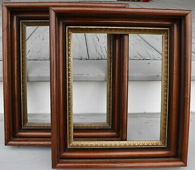 PAIR of Antique Victorian Gilt Walnut Picture Frames 1870 Aesthetic for 10 x 12
