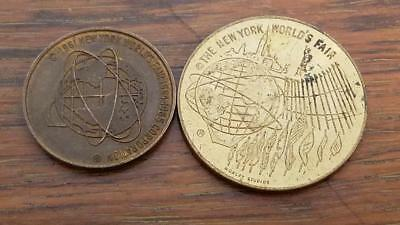 2  1964-65 New York Worlds Fair Tokens Or Medals L265