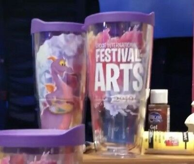 New 2019 Epcot Festival of the Arts Disney Figment Tervis Mug Cup LARGE