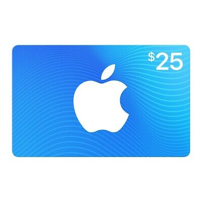 Apple Store Gift Card $25 US NORTH AMERICA Digital Request Available