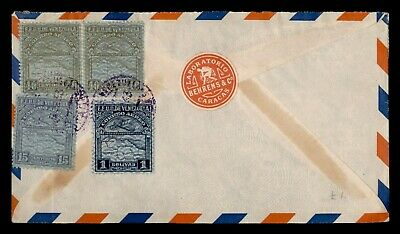 DR WHO 1933? VENEZUELA CARACAS AIRMAIL TO GERMANY LABORATORY ON BACK  d93843