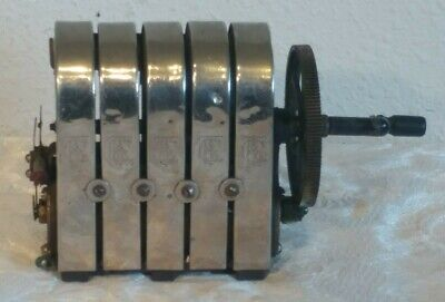 CTE & Company Five Bar Vintage Telephone Magneto - Working Early Technology!