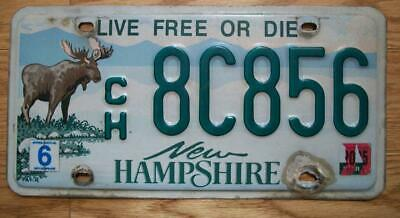 SINGLE NEW HAMPSHIRE LICENSE PLATE - 2005 - ch8C856 - Live Free of Die - MOOSE