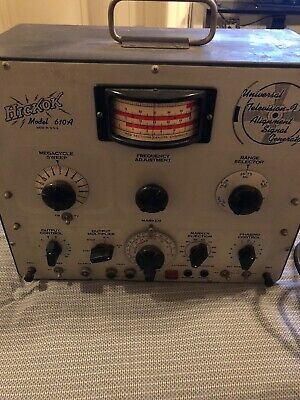 Rare Vintage Hickok 610A Universal Television Fm Alignment Signal Generator-Usa