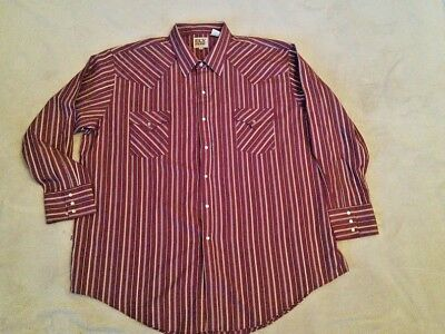 "Men's Western shirt like Wrangler by Ely ""Cattleman""  size 3 XL"