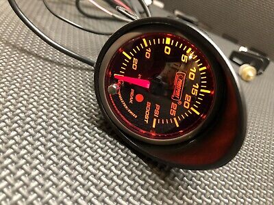 ProSport 60MM Premium Electric Boost Gauge Red Pounds