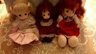 Adorable Vintage Precious Moments Dolls- 2 15 inch-one 12 inch