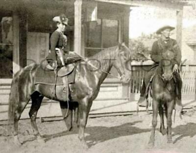 Antique Repro 8X10 Photo Western American Woman Outlaw Horse Thief Belle Starr 2