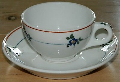 2- 1950's Syracuse China Restaurant Gardena Cup & Saucer Sets