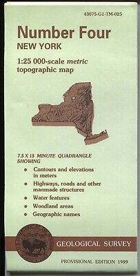 USGS Topographic Map New York NUMBER FOUR 1989 provisional 25K