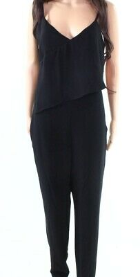 075baad67ae2 Armani Exchange NEW Black Womens Size 8 Asymmetric Popover Jumpsuit  175-  222