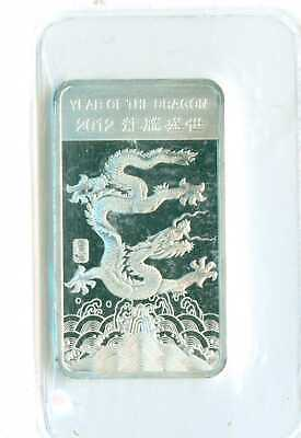 2012  1/2 Ounce .9999 Fine Silver Bar Year Of The Dragon $2.50 Shipping!