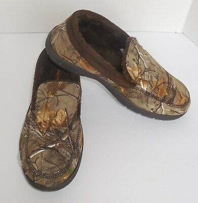 a3c7ce633a3f Realtree Indoor Outdoor Slippers Mens Large 9.5-10.5 Camo Brown Memory Foam  New