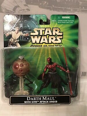 Star Wars Power Of The Jedi Darth Maul With Sith Attack Droid