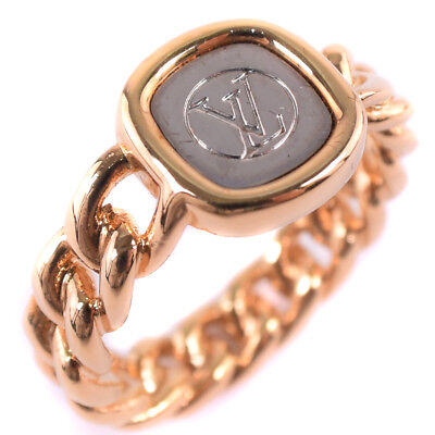 AUTHENTIC LOUIS VUITTON M61096 No. 15 ID ring Ring Gold Plated #15(JP Size)
