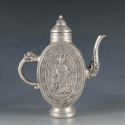 Chinese Silvering Copper The Handmaid's Teapot Made During The Da Ming Xuande