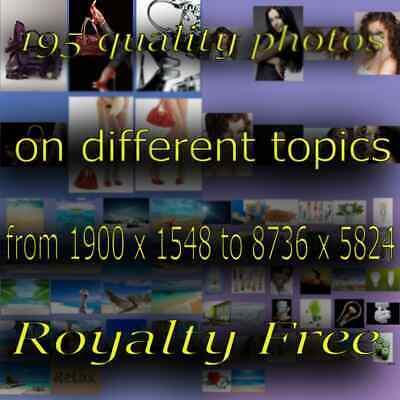 RoyaltyFree 195 beautiful photos. For photomontage and advertising good quality