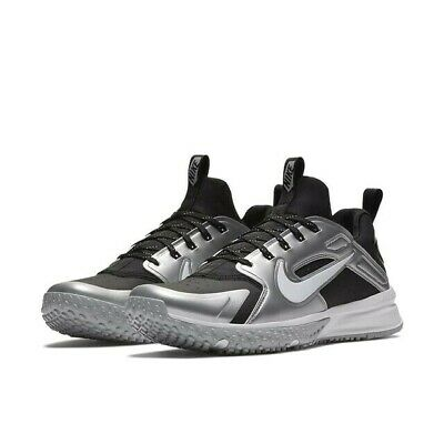 a21ee43f4c942 NIKE ALPHA HUARACHE TURF Lunarlon Black Silver Baseball Softball Shoes 11  Mens