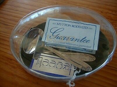 Rodd Silverplate Childs Baby Pusher And Spoon