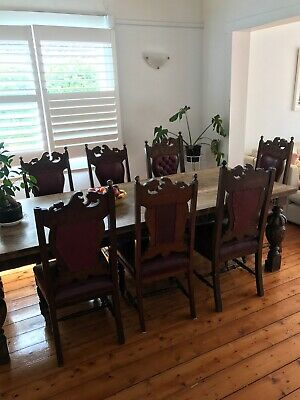 Set of 8 (or 10) - Beautiful Antique Dining Chairs