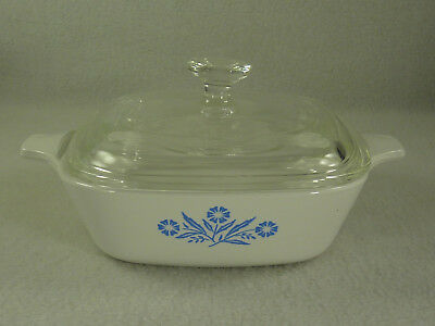 Corning Ware Blue Cornflower Petit Pan P41-B 1 3/4 Cup with Original Glass Lid