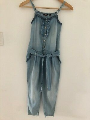 Girls Indie Chambray Jumpsuit Age 9