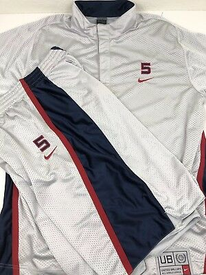 Vintage Nike Mens Team USA United Ballers Basketball Jersey Shorts Jason  Kidd XL 67be63e63