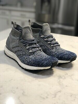 824b62bfc Adidas Ultra Boost All Terrain Heather Grey Noble Indigo Blue BB6128 Men Sz  10.5